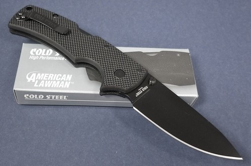 "Cold Steel American Lawman Folding Knife 3-1/2"" Blade, G10 Handles"