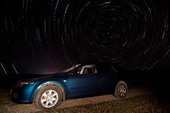Mazda6 under the North Star (star trails) (Kain Kalju) Tags: longexposure car stars star estonia trails mazda startrails mazda6 polaris northstar tokinaatx116prodx