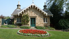 South Lodge Botanical Gardens Sheffield (woodytyke) Tags: county uk flowers roof england sky house west building green english history window grass stone gardens architecture garden botanical photography photo bed britain south sheffield yorkshire united north kingdom lodge restored british isles listed sheffieldbotanicalgardens woodytyke 2011sheffield22april