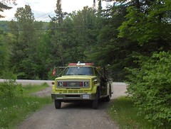 pumper on the driveway (searchmontfire) Tags: fire dept searchmont