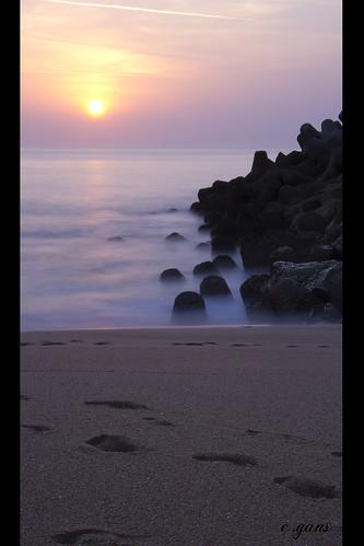 Nazaré, le coucher de soleil