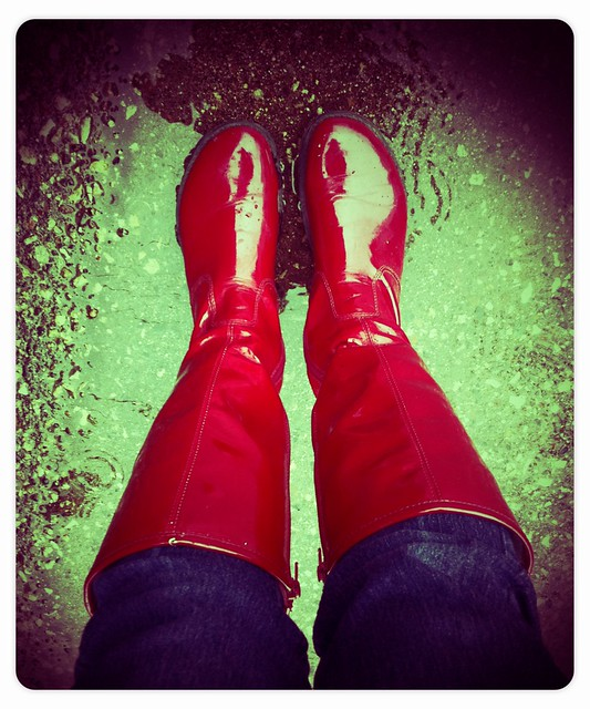 Definitely a good day for my Wonder Woman rainboots
