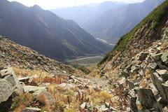 西穂-間ノ岳から見た岳沢
