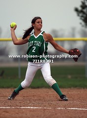 7I1R8391 (warren.robison) Tags: girls sports girl sport ball out photography action central first indiana christian highschool varsity softball bethesda pitcher triton basemen filder fairland ihsaa