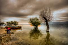 Uluabat Lake,Turkey (Nejdet Duzen) Tags: trip travel cloud lake reflection tree sunrise turkey boat photographer trkiye sandal bursa bulut aa gl yansma turkei seyahat fotoraf gndoumu uluabatlake glyaz uluabatgl saariysqualitypictures mygearandme