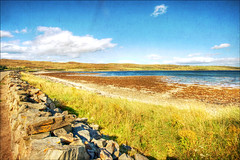 Scotland - Kyle of Tongue (manlio_k) Tags: sea color grass wall clouds contrast scotland highlands perspective hdr kyleoftongue