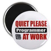 sign Quiet Please Programer at work (ellishackler) Tags: max ray ellis mark jim lori nancy maxwell hack deanna dee keerti hackler ellishackler