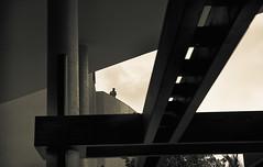 Up in the Watchtower (studioflow) Tags: blackandwhite canon securityguard lagos westafrica toned ekohotel