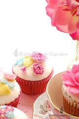 Simply delicate! (Little Cottage Cupcakes) Tags: birthday pink blue wedding flower vintage cupcakes purple anniversary mauve fondant shabbychic sugarpaste littlecottagecupcakes