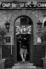 Royal_Wedding_Atmosphere-BW-028 (Edmond Terakopian) Tags: wedding party english marriage gathering british tradition neighbourhood streetparty neighbourly leicanoctilux50mmf095asph silverefexpro2