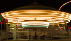 Flying Saucer!!! (Robby Ryke) Tags: longexposure night canon fun lights spring tripod ufo merrygoround carnivalride t2i