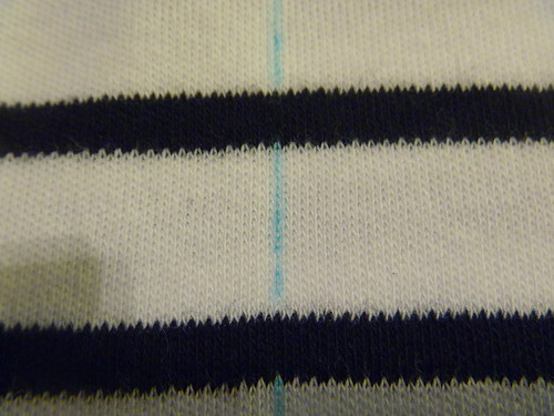 Finding grain on knits