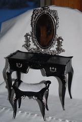 OOAK Suzy Goose Vanity-Goth? (toomanypictures1) Tags: vintage goth barbiefurniture susygoose suzygoose ooakfurniture