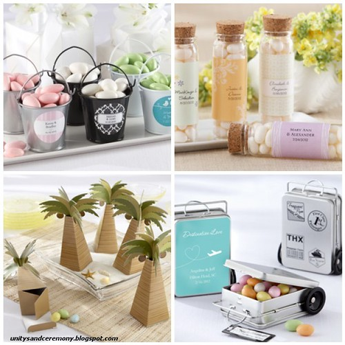 Beach Wedding Favor Containers