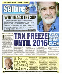 SNP Scottish Election Leaflet, 2011 (Scottish Political Archive) Tags: party scotland election scottish national publicity campaign newsletter connery snp 2011