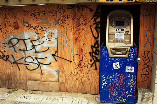 Graffiti and an ATM by PC - My Shots@Photography