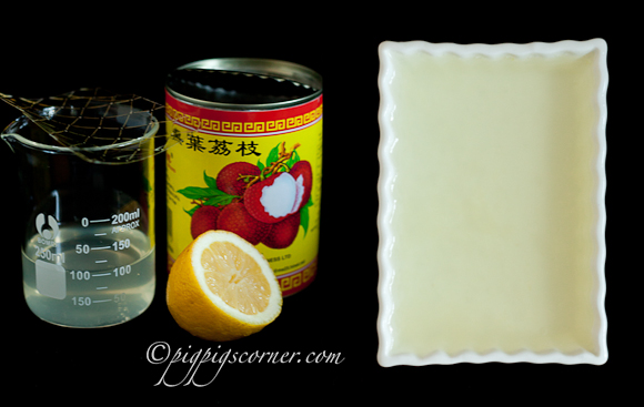 lychee jelly