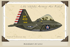 WWII F-22 Scheme (blackheartart) Tags: art airplane aircraft aviation military raptor caricature f22 airforce usaf stealthfighter heritagescheme