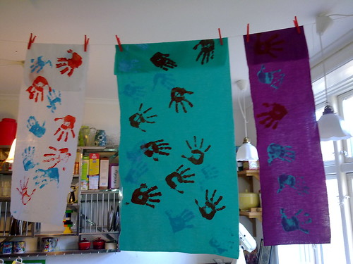 Handprints fabric