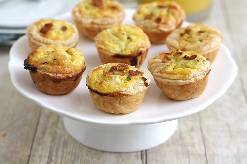 Bacon, Leek and Cheddar Mini Quiches | Tracey's Culinary Adventures