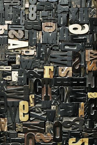 Door detail - old school letter blocks