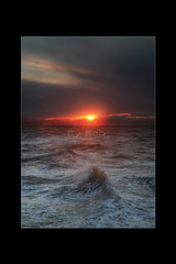 Choppy sea at the wind farm (Robstorm Photography) Tags: sunset storm stormy windfarm newbrighton choppy roughsea canon5dmark2 newbrightonwindfarm
