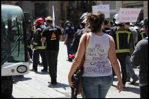 Protesta de jovenes por la economia