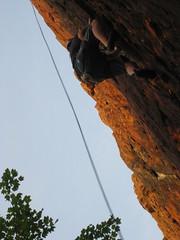 2011 05 25 climbing at Pinnacle Rock, Plainville CT 013
