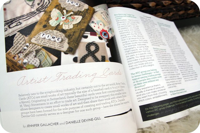 Embellish issue, atc article feature