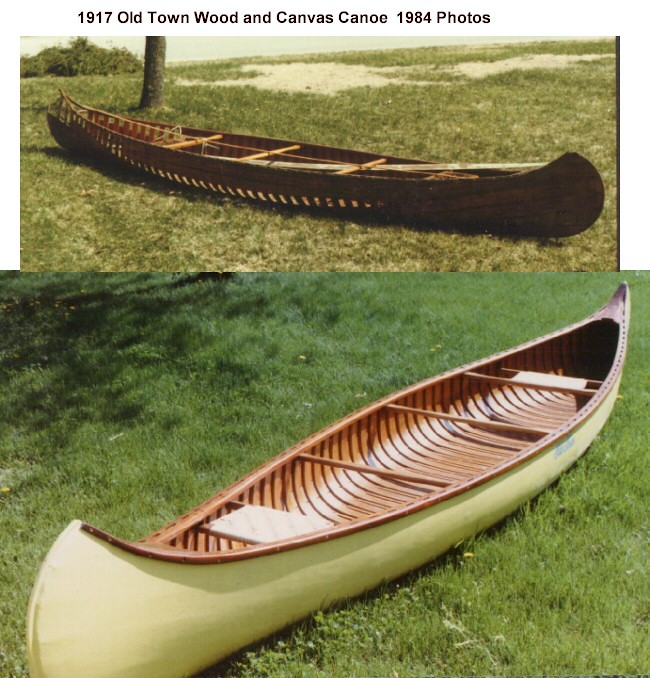 1917 - 1984 Old Town Canoe Restoration side View