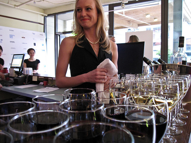 Serving Open wines
