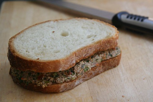 Sandwich with Tofu and Vegetable spread