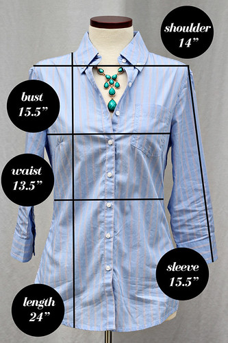 Banana-Republic-Button-Back-Measurements