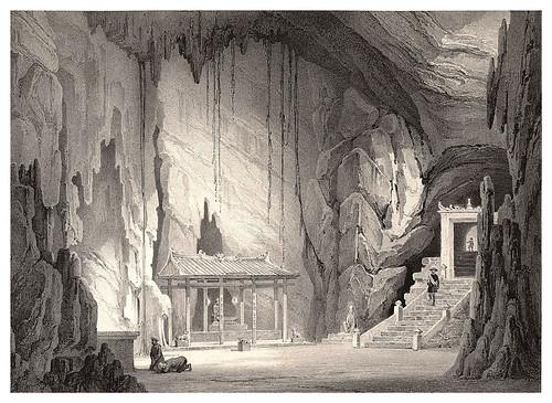 001-Gruta y pagoda en las montañas de marmor-Conchinchina-Journal de la navigation autour du globe… 1837-Barón de Bouganville-fuente BOTANICUS