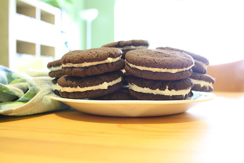 AND THEN I MADE OREO COOKIES.