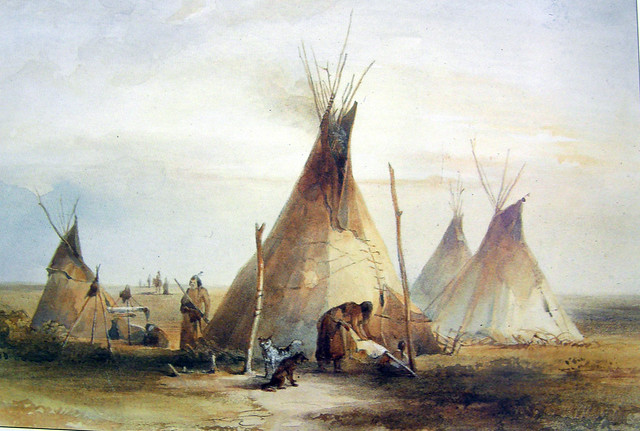 Lakota Sioux Camp 1833