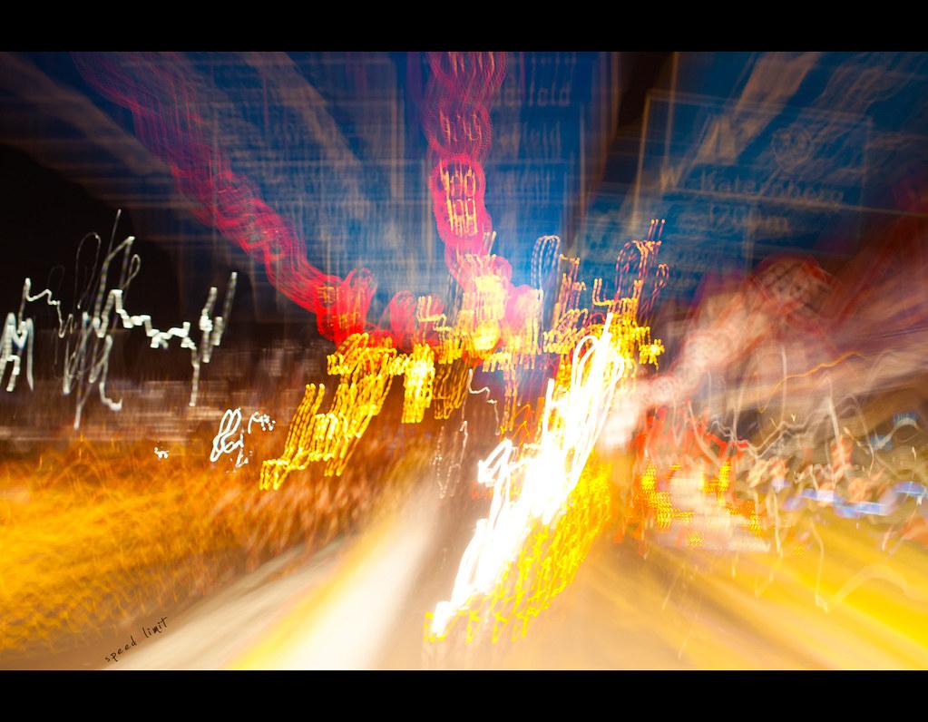 Project 365, Day 310, 310/365, Sigma 50mm F1.4 EX DG HSM, driving, trails, light, speed limit, motion blur,