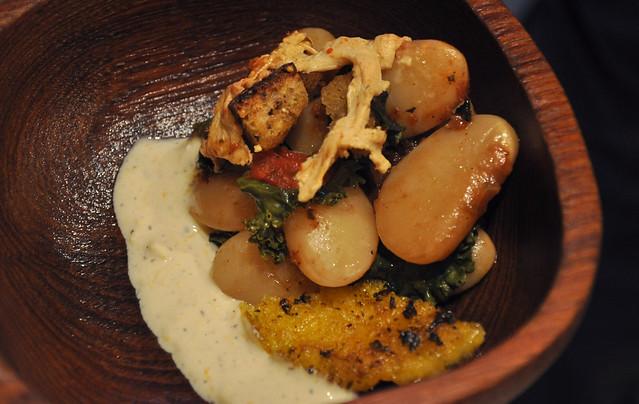 Peruvian lima bean casserole
