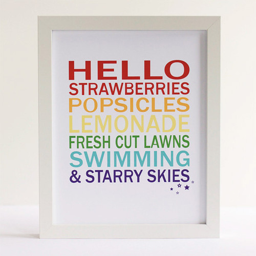 Hello Summer - 8x10 Print by vicinitystudio