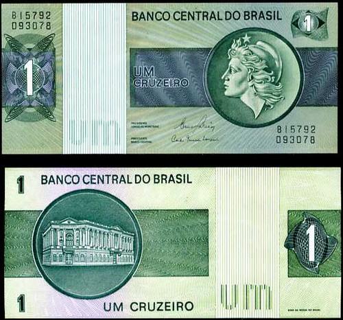 1 Cruzeiro Brazília 1972-80, Pick 191A