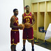 Kyrie and Tristain Pose in Their New Uniforms
