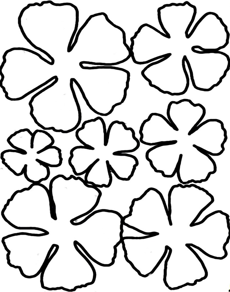 Exceptional image for flower templates printable