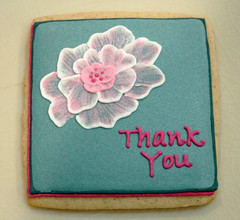 Thank You Flower (TheHungryHippopotamus) Tags: flower cookie thankyou mortonssteakhouse childrenshospitalofphiladelphia cookieart childrensmiraclenetworkhospitals