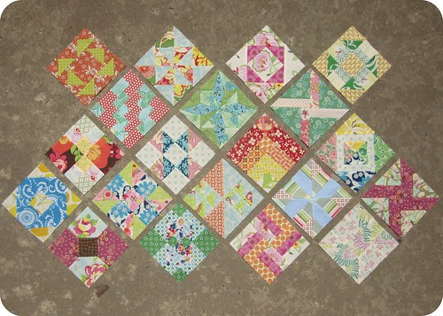 The Farmer's Wife Sampler - My blocks - weeks 1 through 6