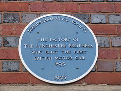 Photo of Frederick Lanchester and George Herbert Lanchester blue plaque