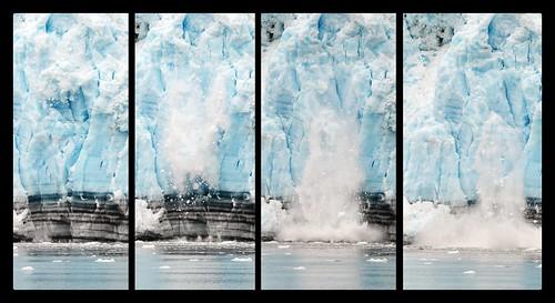 Alaskan Glacier Calving