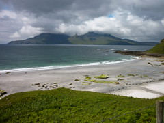 Singing Sands, looking to Rhum