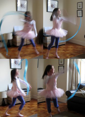 dancing with ribbons