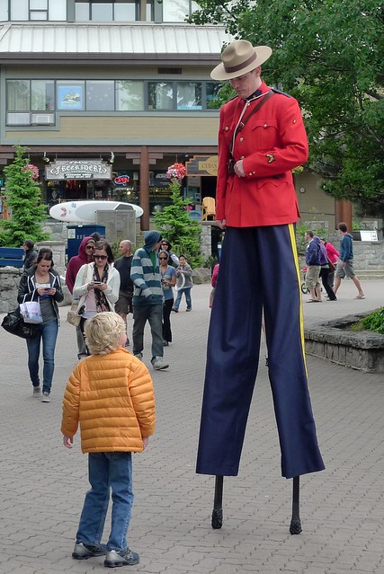 Mounties are very tall