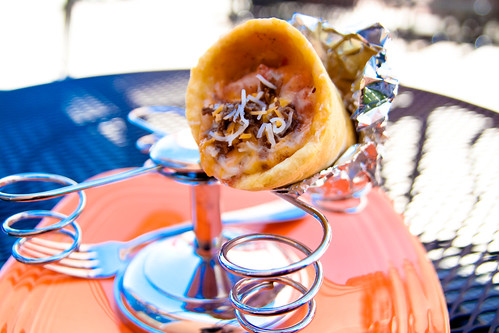 Bruschetta Beef Sandwich Cone at Pino Gelato
